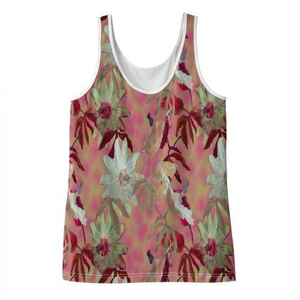 Ladies Vest Top [size 14 shown]  Pink, Green  Passionflower  Alto