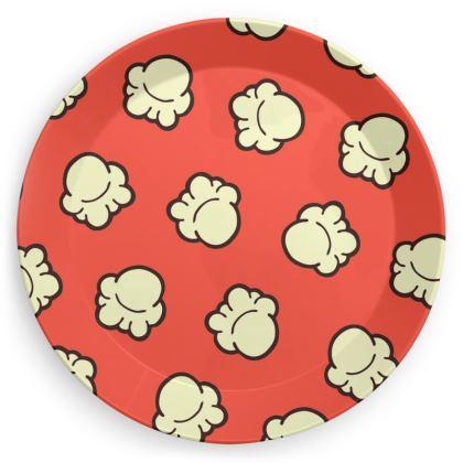 Popcorn Pattern Party Plates