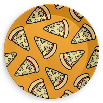 Mushroom Pizza Pattern Party Plates
