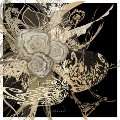 Coasters - Glasunderlägg - 50 Shades of Lace Black