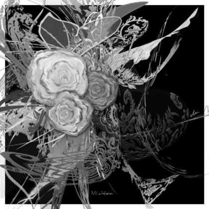 Coasters - Glasunderlägg - 50 Shades of Lace Grey Black