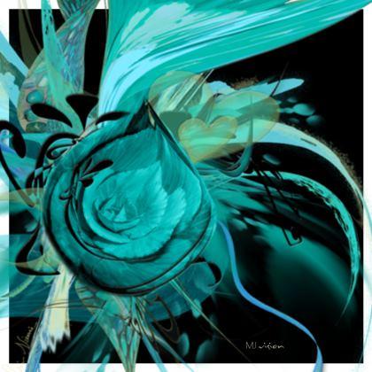 Coasters - Glasunderlägg - Turquoise Black