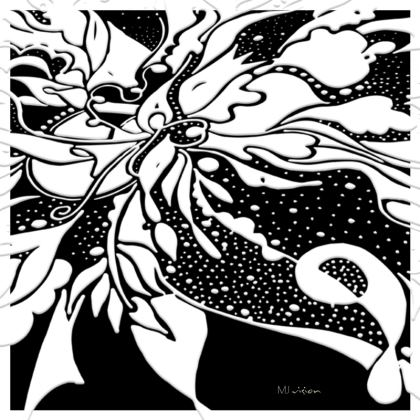 Coasters - Glasunderlägg - White ink on Black