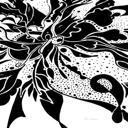 Coasters - Glasunderlägg - Black ink on White