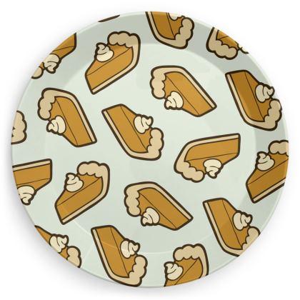 Pumpkin Pie Pattern Party Plates