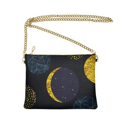 modern moon bag with chain