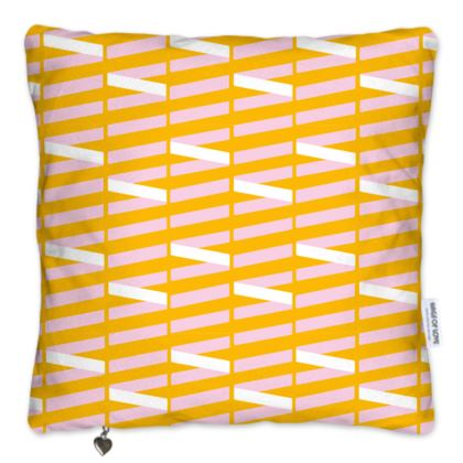 Zig My Zag Pillows Set in Orange