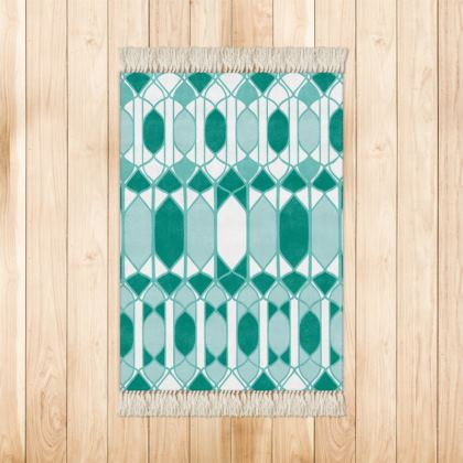 Folklore Rug in Forest Green