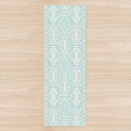 China Girl Yoga Mat in Oriental Pastels