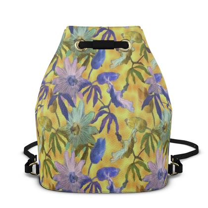 Bucket Backpack Yellow, Blue  Passionflower  Radiance