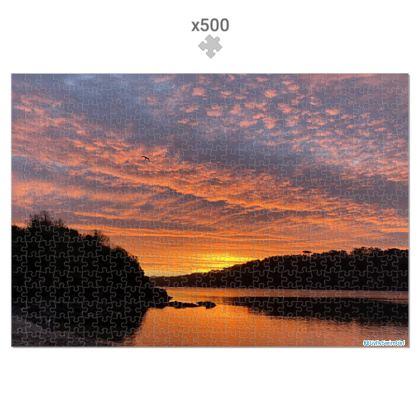 Jigsaw - Ferry Boat December Sunrise 500 piece, in Presentation tin