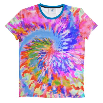 Cut And Sew All Over Print T Shirt Tie DyeD