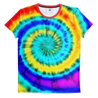 Cut And Sew All Over Print T Shirt Tie Dye 2