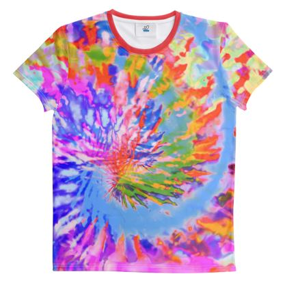 Cut And Sew All Over Print T Shirt Tie Dye 3