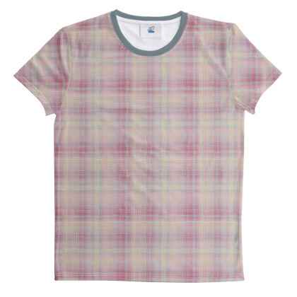 Cut And Sew All Over Print T Shirt Plaid 4