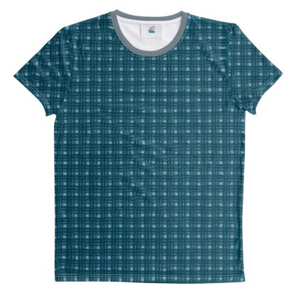 Cut And Sew All Over Print T Shirt Plaid 5
