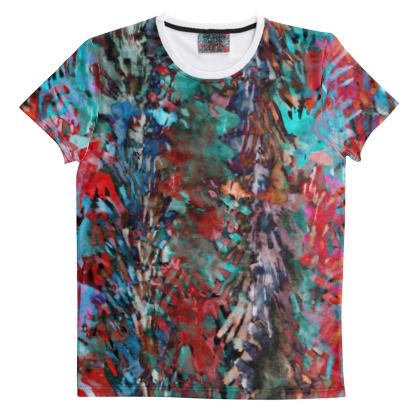 Cut And Sew All Over Print T Shirt 35