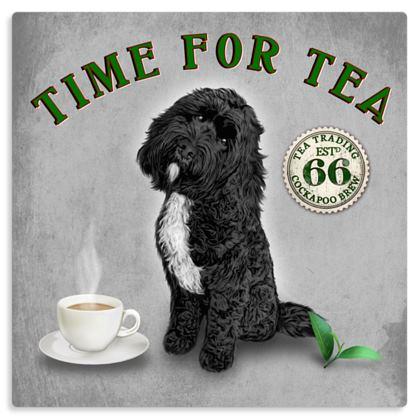 BLACK TUXEDO TIME FOR TEA METAL PRINT