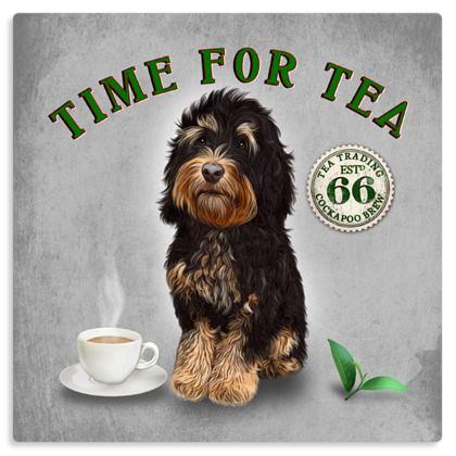 TRICOLOUR COCKAPOO TIME FOR TEA METAL PRINT