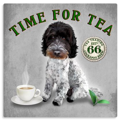 BLUE ROAN TIME FOR TEA METAL PRINT