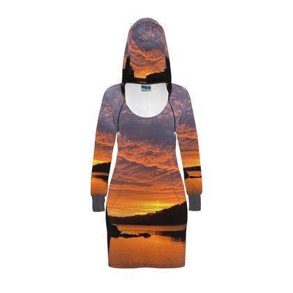 Hoody Dress - Ferry Boat Sunrise