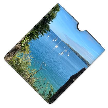 Leather ipad case - Summer on the Helford