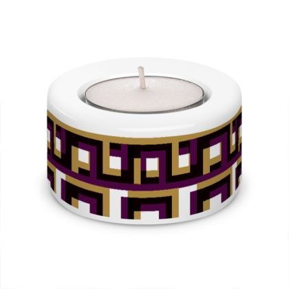 Geometrical Illusion Tea Light Holder (x2)