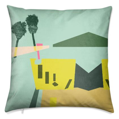 Palm Tree Abstract Luxury Cushions