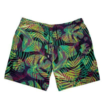 Big Monstera Leaves Swimming Shorts