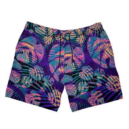 Glowing Jungle Swimming Shorts