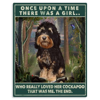 TRICOLOUR COCKAPOO ONCE UPON A TIME METAL PRINT