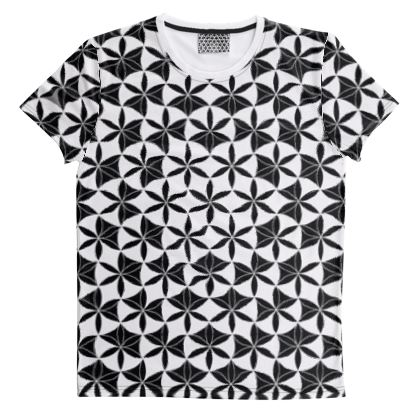 Cut And Sew All Over Print T Shirt 38