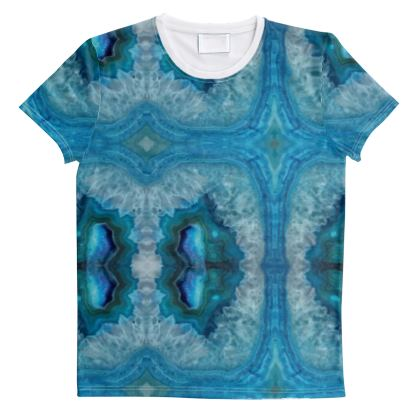 Cut And Sew All Over Print T Shirt