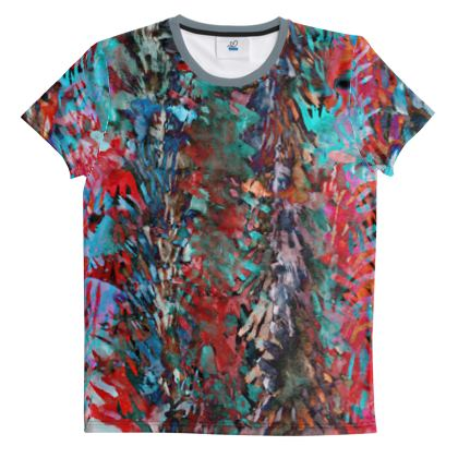 Cut And Sew All Over Print T Shirt 42