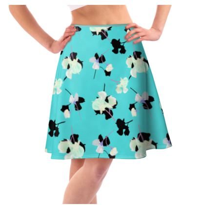 Flared Skirt Turquoise  My Sweet Pea  Totally Turquoise