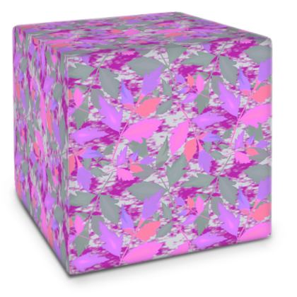 Cube Mauve, Pink  Cathedral Leaves  Mauve