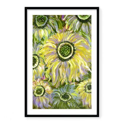 Framed Giclee print Fantasia yellow