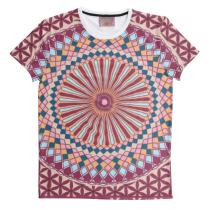 Cut And Sew All Over Print T Shirt 40