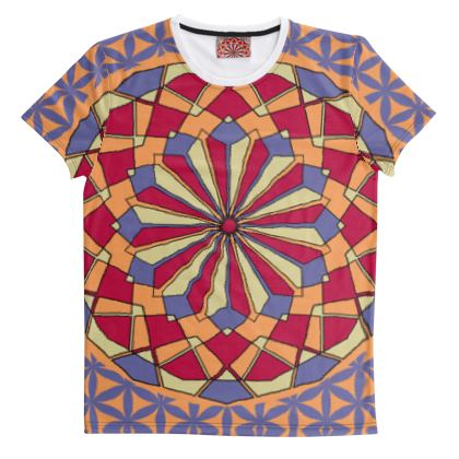 Cut And Sew All Over Print T Shirt 45