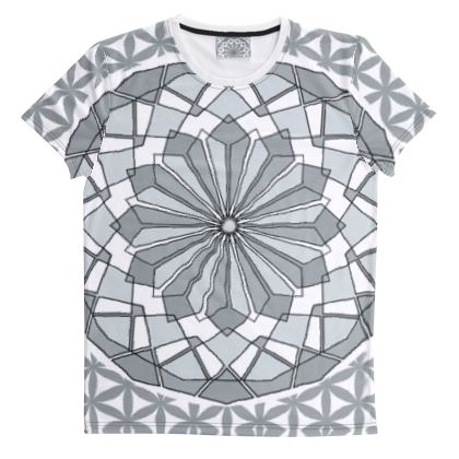 Cut And Sew All Over Print T Shirt 44