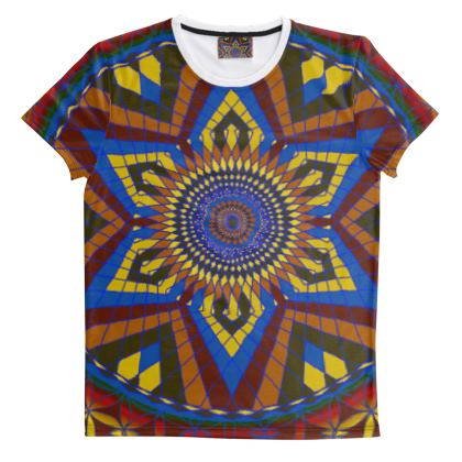 Cut And Sew All Over Print T Shirt 43