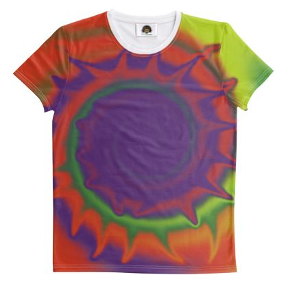 T Shirt - Colourful Spiked Ball