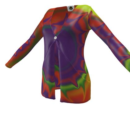 Ladies Cardigan With Pockets - Colourful Spiked Ball