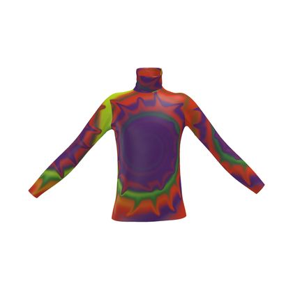 Mens Slim Fit Roll Neck - Colourful Spiked Ball