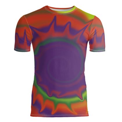 Slim Fit Mens T-Shirt - Colourful Spiked Ball