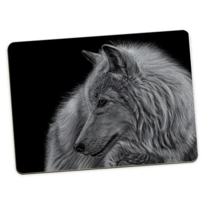 Winter is Coming - White Wolf Large Placemats