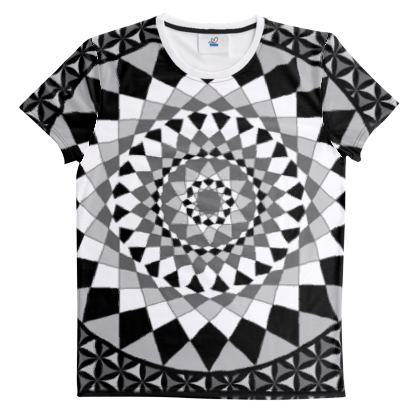Cut And Sew All Over Print T Shirt 46