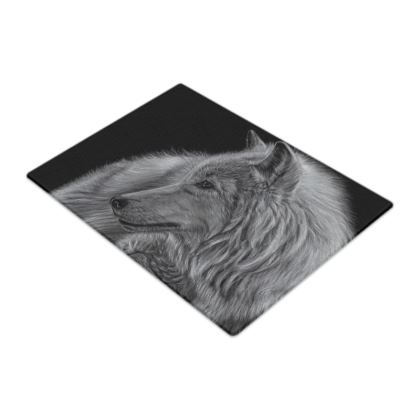 Winter is Coming - White Wolf Glass Chopping Boards