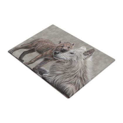 Love Me Tender - Wolf Glass Chopping Boards