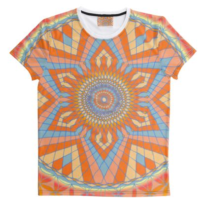 Cut And Sew All Over Print T Shirt 2